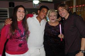 Familia Robaina en el restaurant La Casa