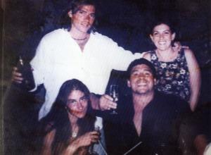 Diego Maradona en el restaurant La Casa